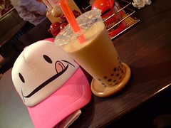 pink cap and pmt (Kamey7) Tags: pearlmilktea
