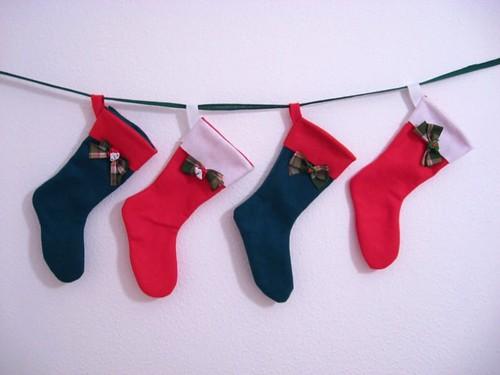 Uma das coisas mais fofas de Natal pra mim são as meias ou botas