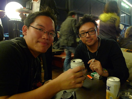 With Singaporean filmmaker Ho Tzu Nyen