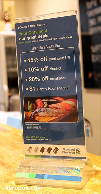 Standing Sushi Bar Discounts