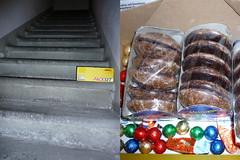 The day couldn't end better (Beelama) Tags: family scale stairs diptych famiglia familie treppe surprise beelama biscotti lebkuchen ueberraschung plaetzchen paeckchen