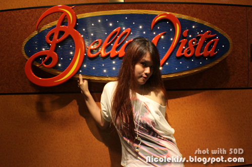 posing with bella vista