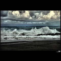 Stormy Sea (Osvaldo_Zoom) Tags: autumn sea sky italy seascape beach clouds landscape seaside nikon waves power stormy calabria strenght amantea d80