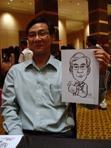 Caricature live sketching for Hitachi Plant Technologies D&D 2009 - 5