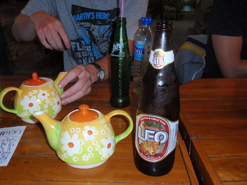 They gave us teapots to hide our beer on the King's Birthday