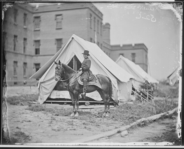 Gen Joseph Hooker and horse by The US National Archives