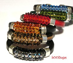 Wonderful Pitxikeris Bracelets (bOOlingas) Tags: leather bracelets swarovski cuero pulseras