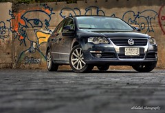 Graffitized? (Abdallah | Photography) Tags: blue vw canon painting wagon photography eos rebel graffiti interesting drawing 10 top explore saudi arabia com volks passat 2009 hdr xsi abdallah hza 5015 arsalan 450d