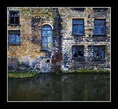 Huddersfield Canal (Mike Carter) Tags: windows reflection mill canal nikon huddersfield 1424 d700