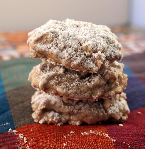 Frischkäse-Kekse gestapelt