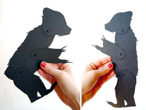 Jointed Papercut Bear // Mon Petit Fantome