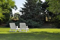 _DSC3537 (Fabio_Bianchini) Tags: parco verde relax colore natura erba poesia fotografia albero azzurro paesaggi sedia ambiente esterno giorno nessuno tranquillit lussureggiante orizzontale idilliaco lucesolare scenarurale dueoggetti bellezzanaturale cielochiaro sediapiegamenta scenanonubana