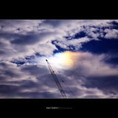 'Everywhere you go you always take the weather with you' ([ Kane ]) Tags: sky sun colour clouds crane australia brisbane qld queensland kane shape sundog wisp gledhill weirdthing kanegledhill kanegledhillphotography