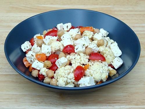 Salade de Chou-fleur, pois chiches et Fromage Feta DSC05852