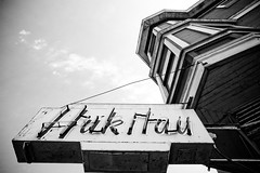 Huk Hau (Thomas Hawk) Tags: sanfrancisco california blackandwhite bw usa restaurant blackwhite neon unitedstates unitedstatesofamerica hukhau