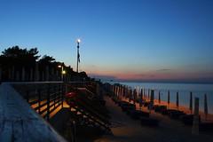 Portonovo (McLoy2008) Tags: sunset sea italy beach seaside tramonto mare acqua ombrelloni spiaggia ancona portonovo