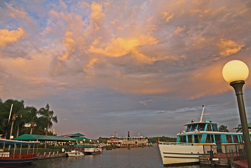 Disney World trip - day 7 - sunset at park docks