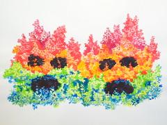 """""""Dark Spots, Watcher in the Woods""""  Charlles Hobbs 2009 (charleswesleyhobbs) Tags: watercolor drawing charles charlie hobbs"""