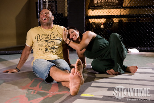 Gina Carano and Randy Couture Photos by Esther Lin/STRIKEFORCE