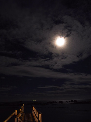 Moon, Cloud. Sea and Bridgh