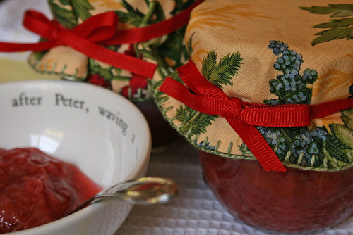 rhubarb & strawberry jam