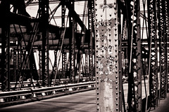 bridge to. . . . . Charlestown (mhodges) Tags: bridge bw boston river nikon iron paint massachusetts charles flaking onthe 70200mmf28gvr charlestownbridge easternmost d700 nikonnikkor70200mmf28gifedafsvr