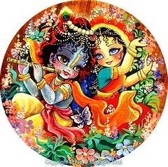 ISKCON desire tree - Young Radha and Krishna dance in the forest as Krishna plays his flute (ISKCON Desire Tree) Tags: demon krishna radha vrndavana balaram iskcon putana devaki radharani kamsa bakasura aghasura