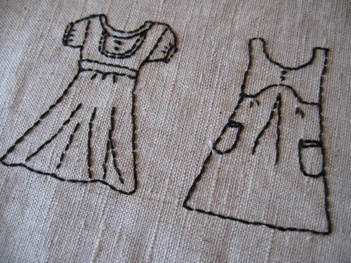 Dresses embroidery