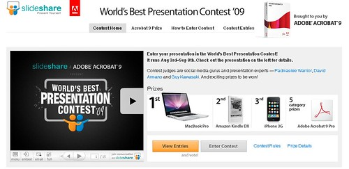 World's Best Presentation Contest '09 from SlideShare