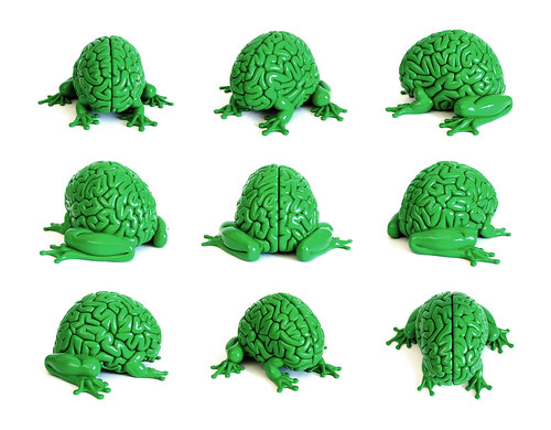 GREEN Jumping Brain by Emilio Garcia - SOLDOUT