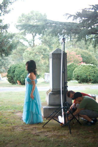 grave yard photoshoot