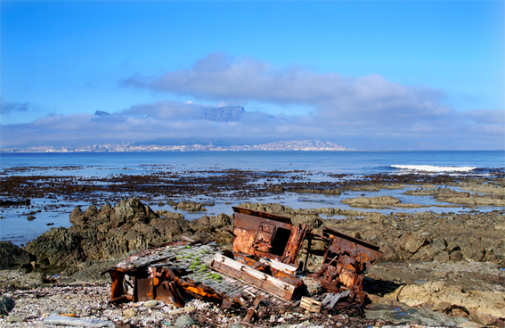 Ship wreck on Robben Island