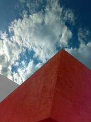 Juriquilla (conceptual) Tags: sky abstract muro colors wall architecture mexico colours angle colores queretaro cielo abstracto ngulo muros abstraccion skyarchitecture juriquilla