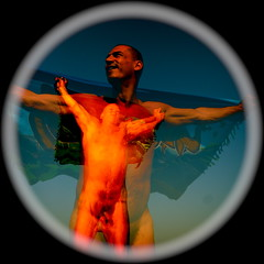 (antoine takes pictures) Tags: nude remix multipleexposure tribute 2009 jrme vitruve