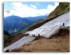 The Glacier on the way of Lake Saful Maluk (Saking--Little Busy) Tags: sky white mountain snow ice nature water clouds kingdom glacier stealth saqib saking concordians kingloi stunningwisdom