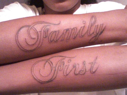 Family First My sons tattoo,