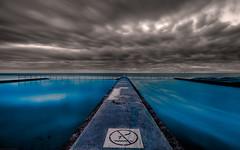 Austinmer Baths (Jashil) Tags: wallpaper signs seascape cold beach pool sign sunrise fence dawn spring nikon widescreen au australia september tokina nsw photowalk newsouthwales nodiving 2009 hdr highdynamicrange saltwater wollongong lightroom firstlight austinmer illawarra d300 signwriting oceanbath shallowwater oceanpool gp1 photomatix saltwaterpool widescreenwallpaper beachphotography freewallpaper nikcolorefexpro colorefexpro niksoftware austinmerbeach seascapephotography nikond300 tokinaatx116prodx tokinaaf1116mmf28 photomatixpro31 nikongp1 freewidescreenwallpaper d300089hdr geolat34307926666667 geolon15093505333333 theshireflickrmeet050909