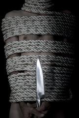 (Dennis. 1974) Tags: portrait hairy man guy hands erotic skin performance bondage rope niples globalknife