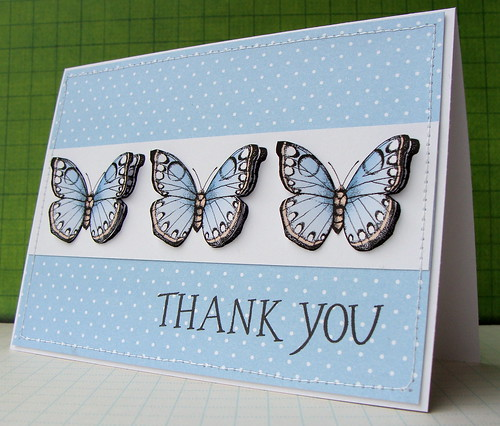 Hero Arts Digital Card - Flutterby Thank You