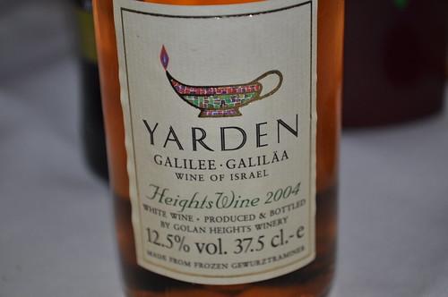 Detalle de vino de Israel