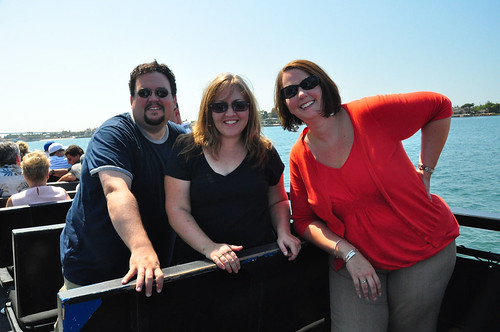 Joe, me and Kassie...on a boat