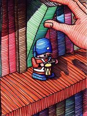 Soldadinho 03 (Daniel Ribeiro) Tags: color art colors kids illustration painting paper cores naked nude children kid child arte nu drawing illustrator livro criana arvore crianas dibujo livros desenhos figuras ilustrao desenho pintura soldado personagem ilustrador estante colorido lenda figura personagens lendas childbook canetinha hidrografica hidrogrficas hidrogrfica livroinfantil canetinhas crendices visualarts hidrograficas ilustrartista danielribeiro ilustraoinfantil feltpen canetadefeltro childillustration artesvisuais artesplsticas plasticarts soldadinhodechumbo infantojuvenilinfantojuvenil