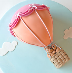 Up, up and away! (Sweet Tiers) Tags: birthday children teddy chocolate figurines hotairballoon bows draping blueribbonwinner platinumphoto rubyphotographer photographersworldbestfriends