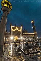 "the ""world-reflecting"" mosque (copysanjay) Tags: sunset india reflection heritage monument dusk delhi muslim islam faith prayer mosque ramadan masjid fasting jamamasjid olddelhi namaaz delhibloggers eoid ramzaan delhibloggersbloc dbm31"