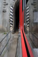 final destination 5 (Toni_V) Tags: motion blur reflection schweiz switzerland movement suisse perspective tunnel reflexions 2009 mgb d300 matterhorngotthardbahn 2028 sooc toniv dsc2394 090913