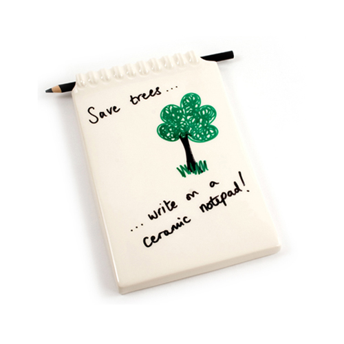 Save Trees - Ceramic Notepad