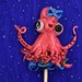 Pink Octupus with bow