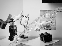 Dal Atomicus (Balakov) Tags: cats motion water jump jumping lego surrealism salvador recreation minifig dali philippe halsman atomicus