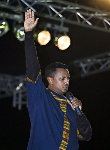 Teddy Afro music concert in Addis Ababa