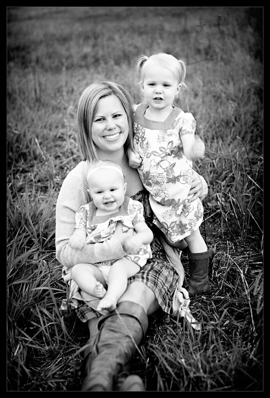 Mom & girls bw blog